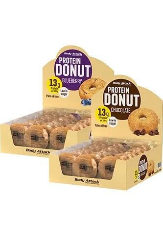 Body Attack Protein Donut 21 x 60g Bars und Snacks