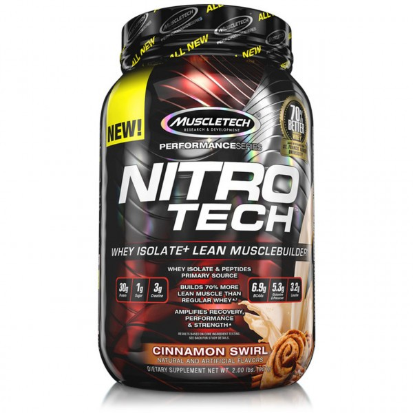 Muscletech - Performance Series Nitro-Tech, 908g - Brownie Cheesecake Proteine