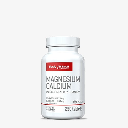 BODY ATTACK Magnesium Calcium 250 Tabletten Vitamine und Mineralien