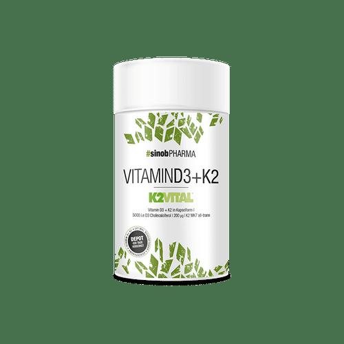 SINOB Vitamin D3+K2, 60 Kaps, Vegane Kapseln