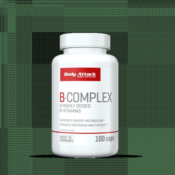 Body Attack B-Complex, 100 Kapseln Vitamine und Mineralien