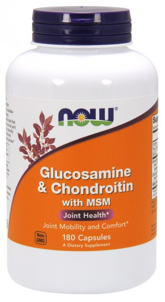 NOW FOODS - Glucosamine & Chondroitin with MSM 180 Kapseln