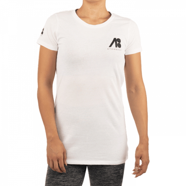 ATOMBODY T-Shirt basic ultra long woman white Sportbekleidung