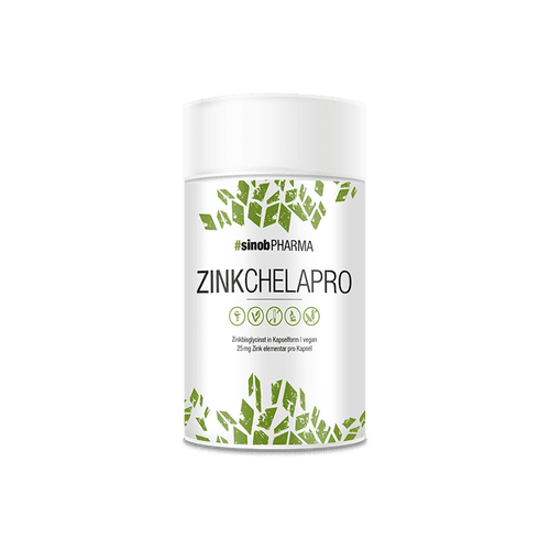 SINOB Zink Chelapro, 60 vegane Kapseln Vitamine und Mineralien