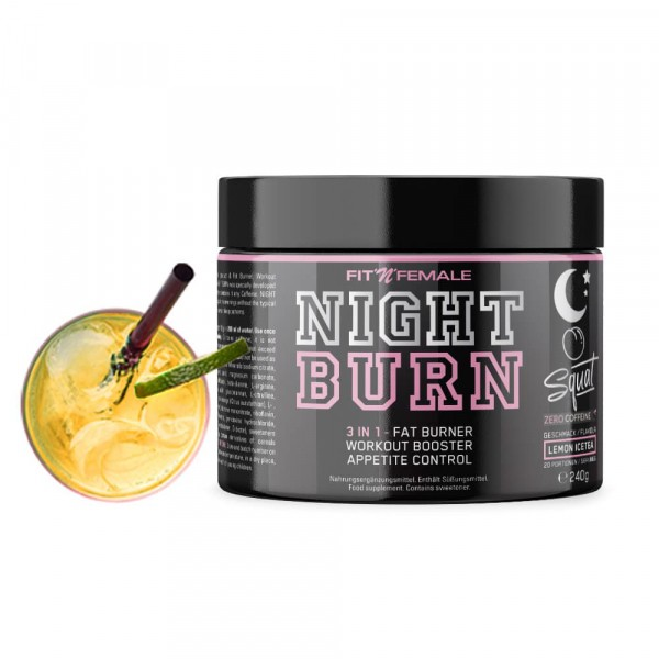 FITNFEMALE Night Burn 3 in 1 - Fatburner, Workout Booster & Appetite control 240g