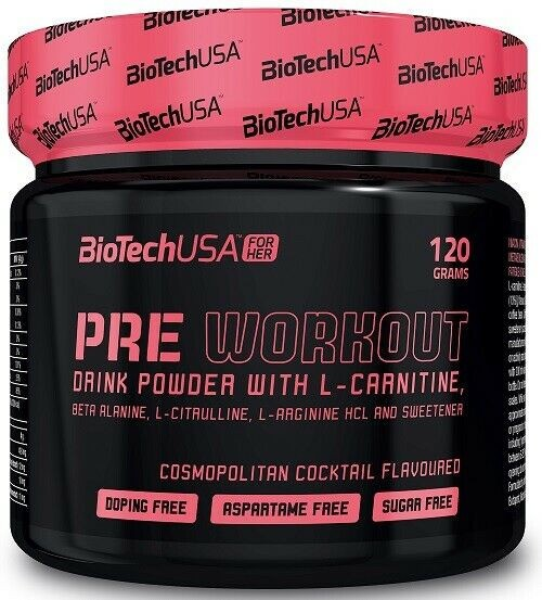 BioTechUSA Pre Workout, 120g, cosmopolitan Trainings Booster