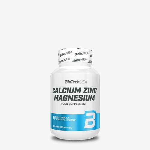 BIOTECHUSA Calcium Zinc Magnesium 100 Tabletten Vitamine und Mineralien