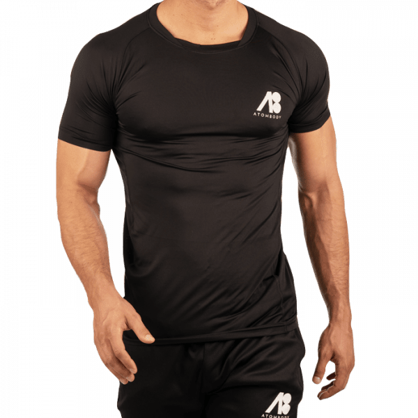 ATOMBODY T-Shirt slimfit sport, men, black Sportbekleidung
