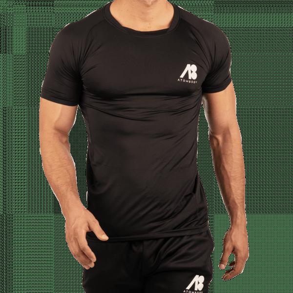 ATOMBODY T-Shirt slimfit sport, men, XXL, black Sportbekleidung