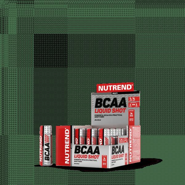 NUTREND BCAA LIQUID SHOT, 20x 60 ml Aminos - MHD 07.04.2021