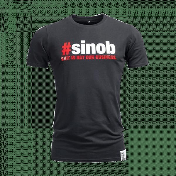 Sinob T-Shirt longer fit, Schwarz Sportbekleidung