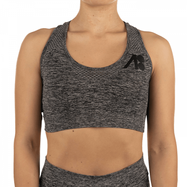 ATOMBODY Workout TOP, woman, L, dark grey Sportbekleidung