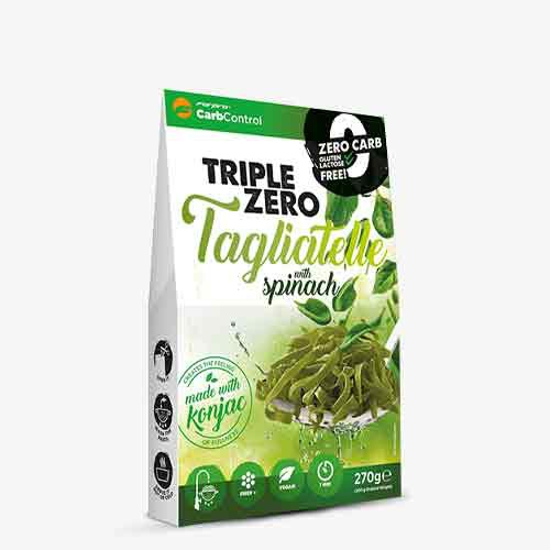 FORPRO Triple Zero Pasta 270g - Tagliatelle Spinach - MHD 26.11.2021