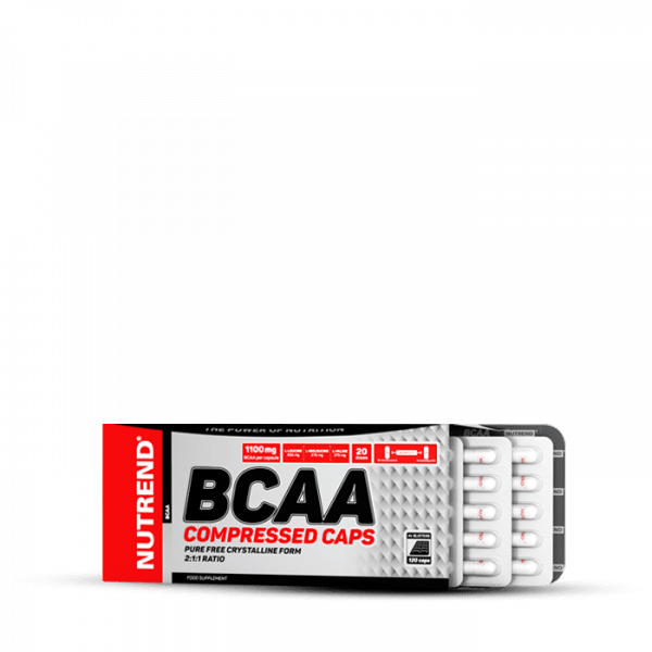 NUTREND BCAA COMPRESSED CAPS, 120 Kapseln Aminos
