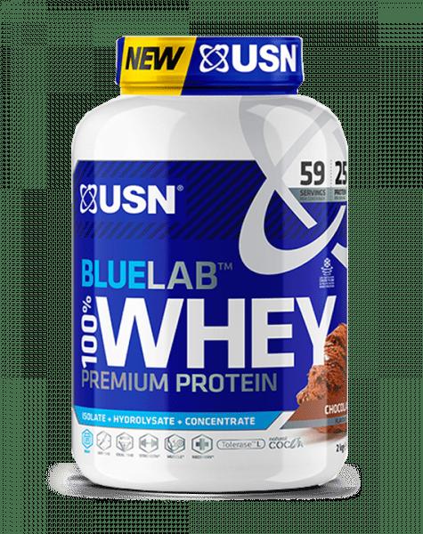 USN BLUE LAB 100% WHEY PROTEIN 2000g - Chocolate - MHD 30.04.2021