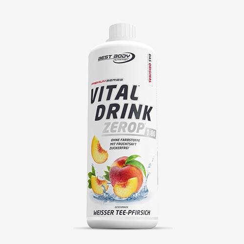 BEST BODY NUTRITION Vital Drink 1000ml Weißer Tee Pfirsich - MHD 31.07.2021